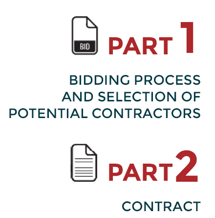 The Contract Guidance Tools is composed of two distinct sections